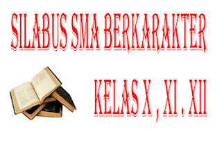Download Silabus SMA Berkakarter Kelas X , XI , XII Kurikulum 2013