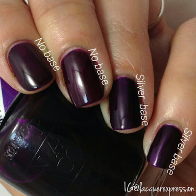 swatch of purple perspective nail polish from the opi color paint collection