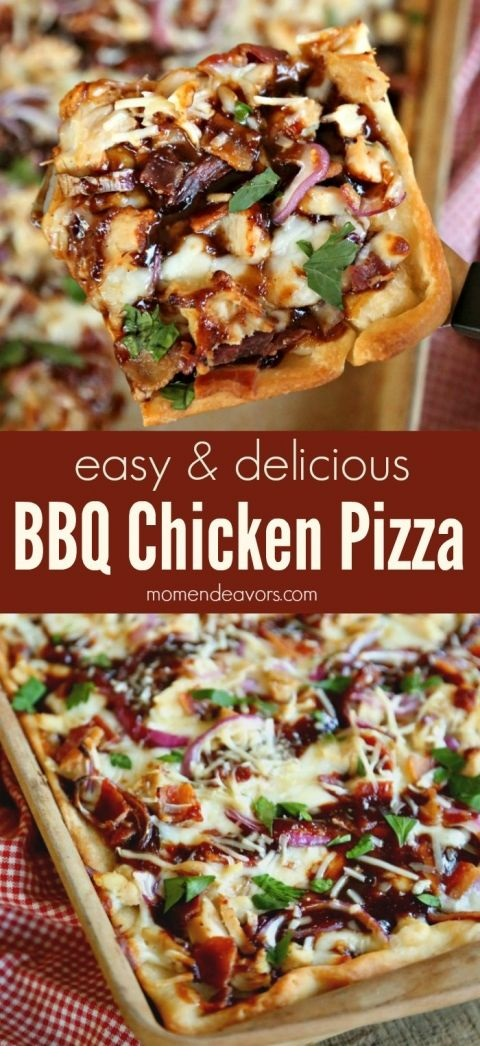 BBQ Chicken Bacon Pizza