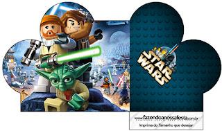 Caja abierta en forma de corazón de Star Wars Lego.