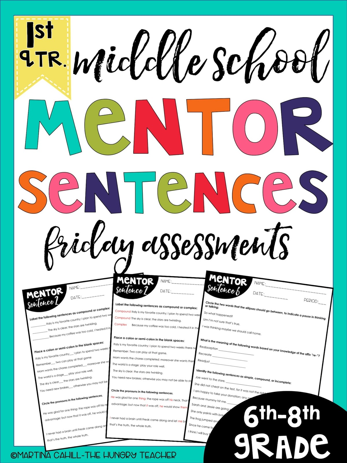 Using Mentor Sentences to Teach Grammar in Middle School ...