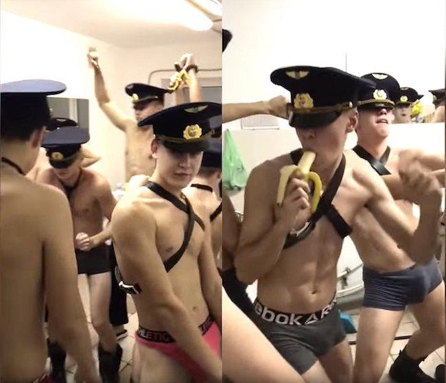 Vídeo de cadetes russos de cueca e sensualizando com bananas, causa polêmica