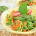 Espaguetis de calabacín con pesto de espinacas