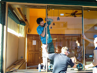 Commercial Aluminum Storefront Window Glass Replacement