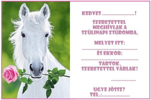 lovas képek születésnapra Zsúrda: Lovas születésnapi meghívó sablonok lovas képek születésnapra