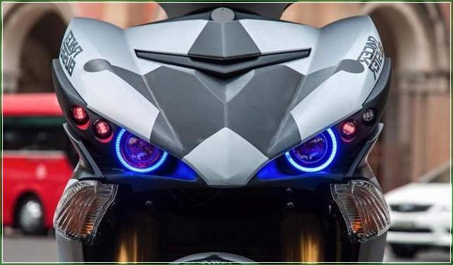 Lampu Senja Diganti Dengan Proji Substitusi - Tip Modifikasi Yamaha Jupiter MX King Exciter Gaya Balap MOTO GP Sporti Keren Abis