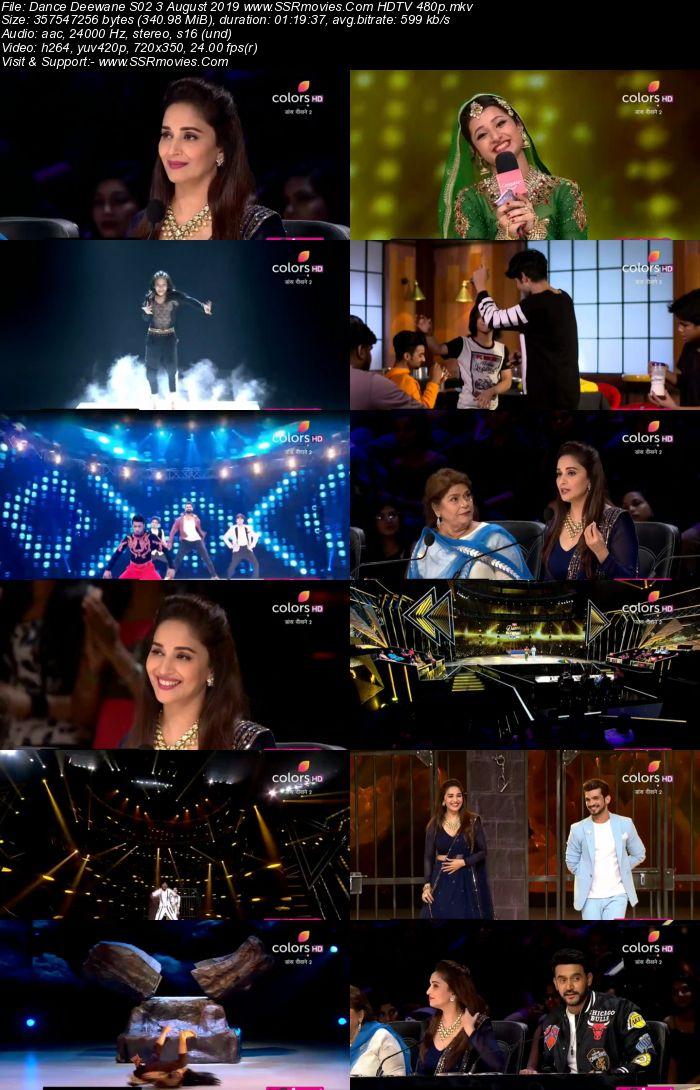 Dance Deewane S02 3 August 2019 HDTV 480p Full Show Download