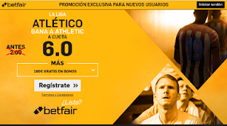 betfair supercuota 6 Atletico gana Athletic Liga 21 mayo