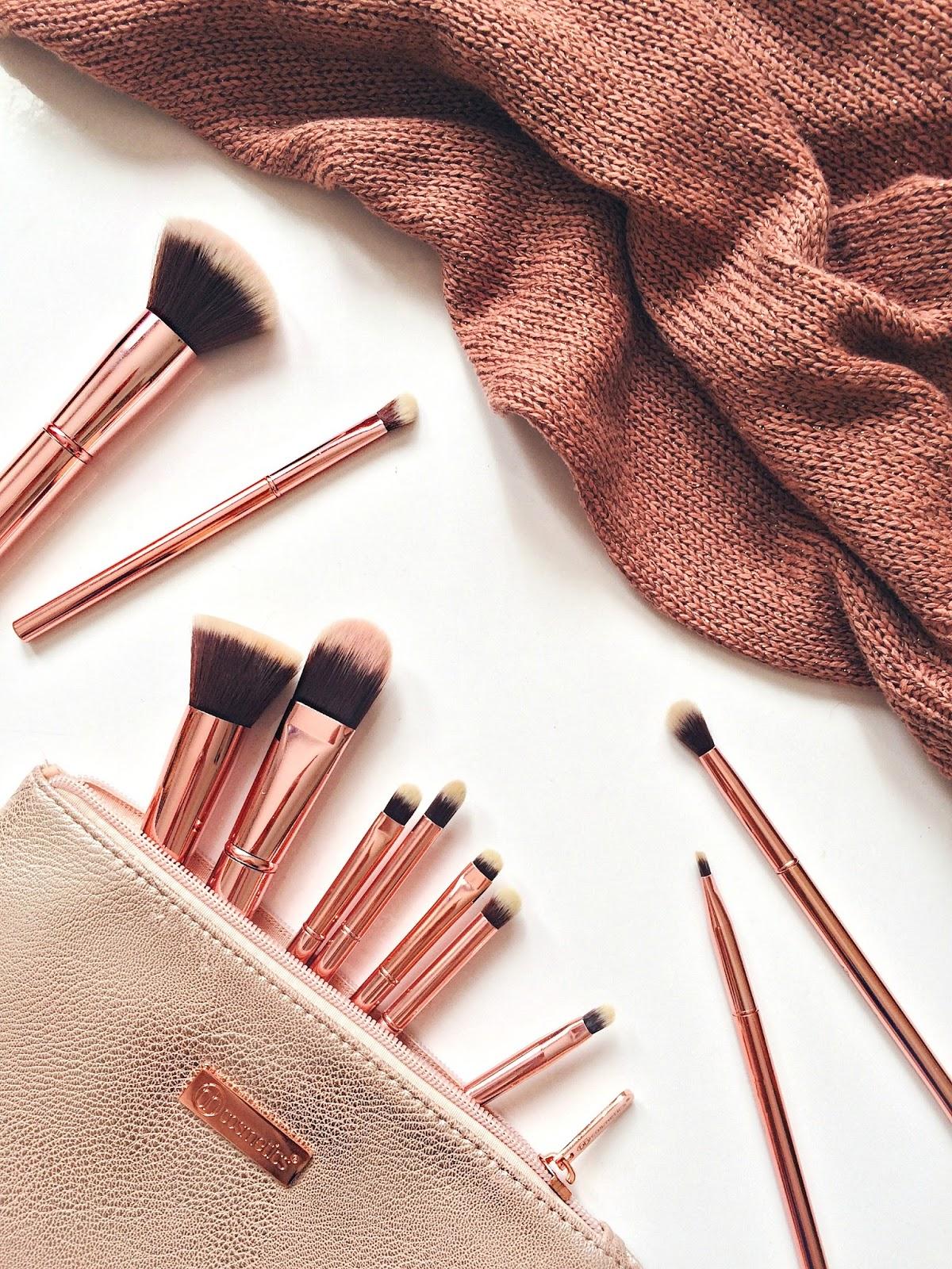 14268fe1287e bh cosmetics brush rose metal set zoeva rose gold palette review