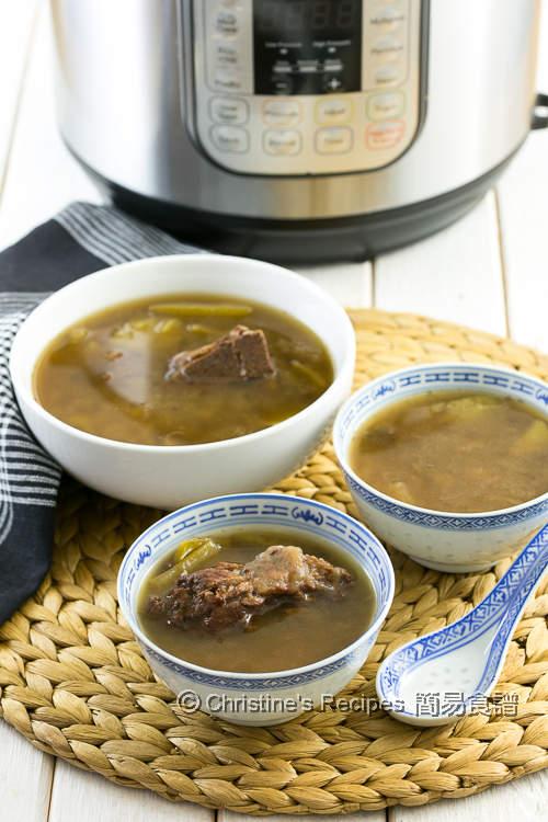 冬瓜去濕湯 Instant Pot White Gourd with Pearl Barley Soup01