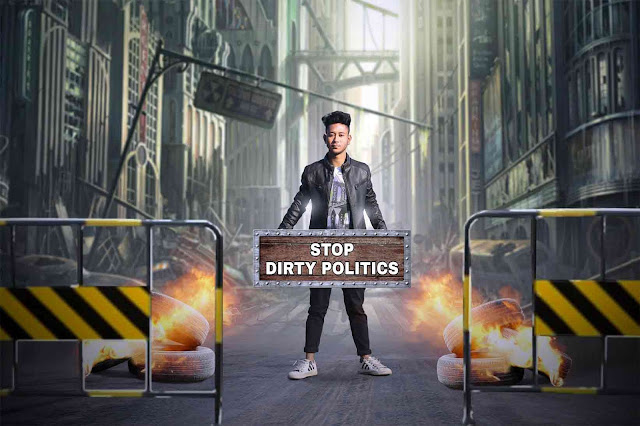Stop Dirty Politics Photo Manipulation Picsart Tutorial