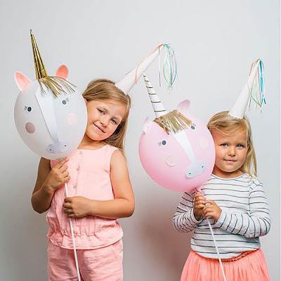 Nella the Princess Knight Party Supplies-Make Your Own Unicorn Balloon Kit