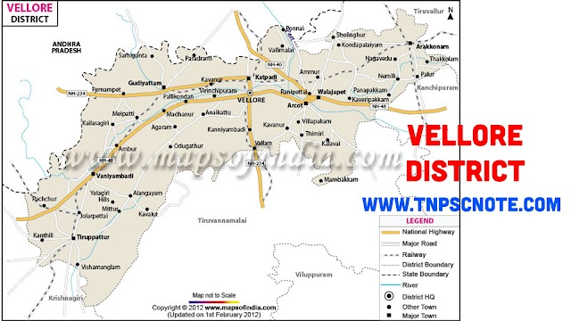 Vellore District Information, Boundaries and History from Shankar IAS Academy