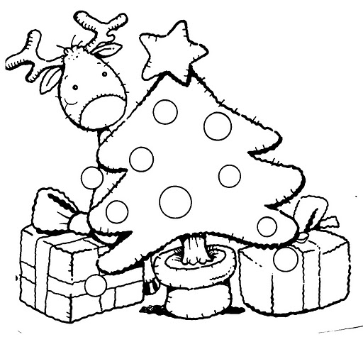 El Rincón De La Educadora Preescolar árbol De Navidad Para Colorear