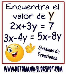 Cuadrados mágicos, Descubre el número, El número que falta, Retos para pensar, Problemas matemáticos, Retos matemáticos, Desafíos matemáticos, Retos de lógica, Problemas para pensar, Sistemas de Ecuaciones