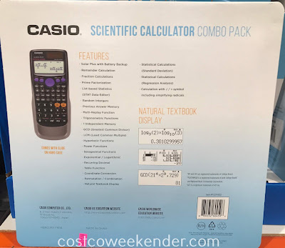 Casio fx-300ES PLUS Scientific Calculator: great for school, the office, or paying bills