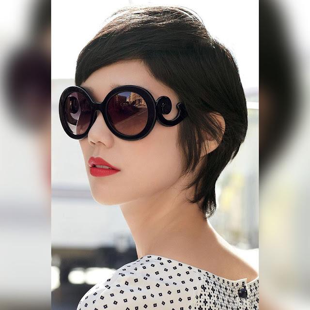Γυναικεία μαύρα γυαλιά ηλίου HERMINIA BLACK&BROWN