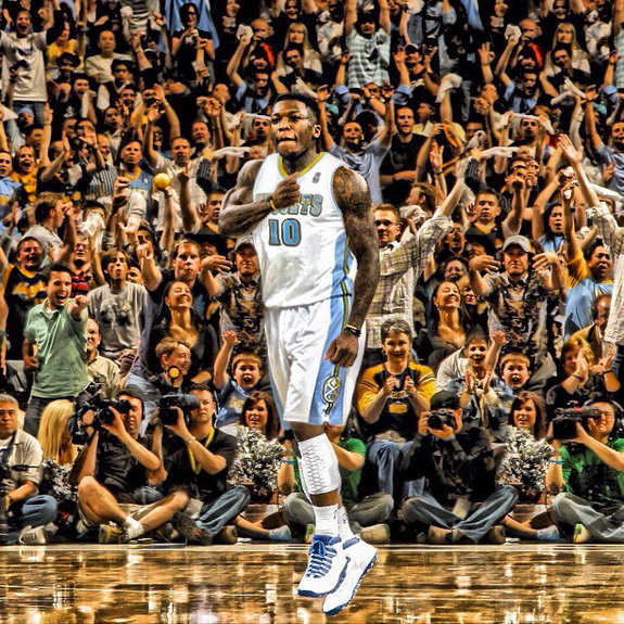Nate Robinson posts a photoshopped image of himself in his new Denver Nuggets uniform