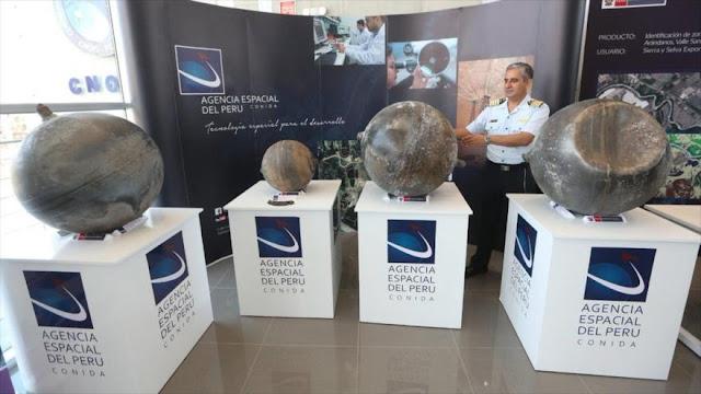 Perú exhibe objetos caídos desde el espacio en su territorio