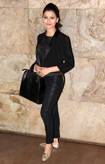 Urvashi Rautela in Full Black Attire