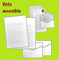 Dibujo detalle  papeletas y sobres electorales en brille
