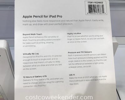 Costco 1024662 - Apple Pencil for iPad Pro (MK0C2AM/A): great if you actually like writing versus typing