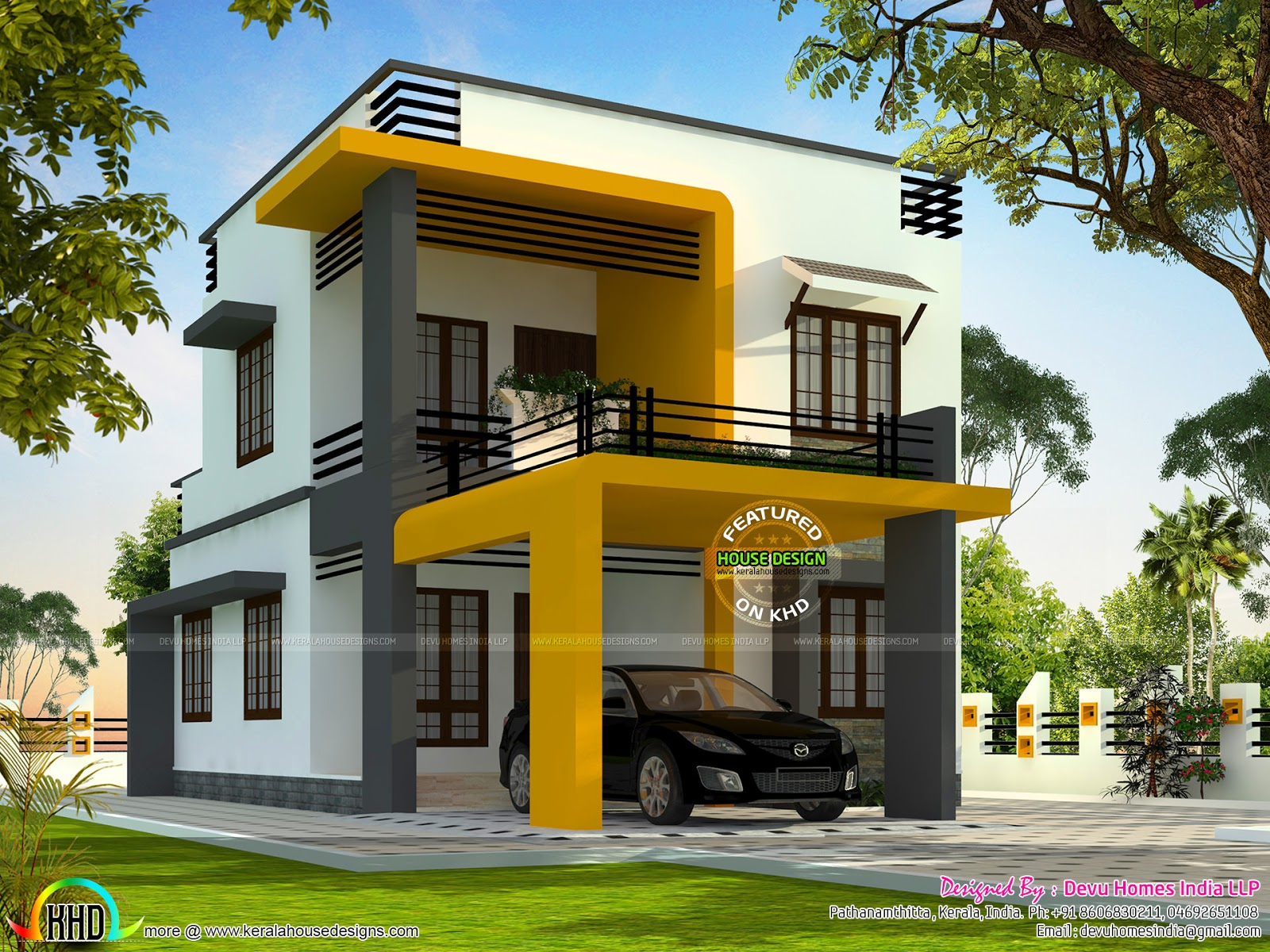 Minimalist contemporary home kerala home design and for Minimalist house design kerala