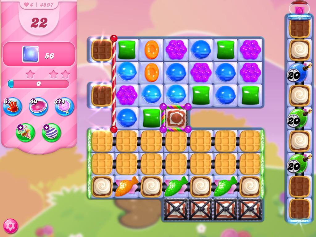 Candy Crush Saga level 4897