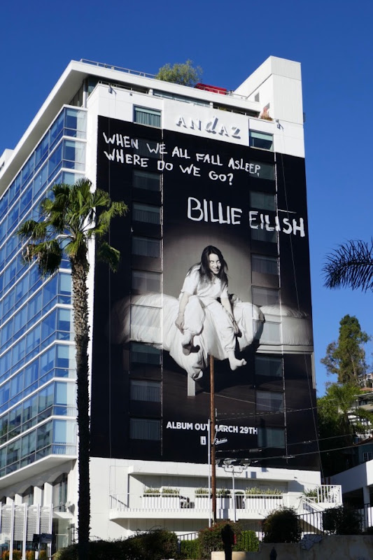 Billie Eilish When We All Fall Asleep billboard