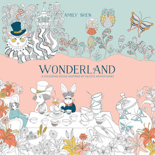 Miss Pippi Reads Wonderland a Coloring Book Inspired by Alice's Adventures