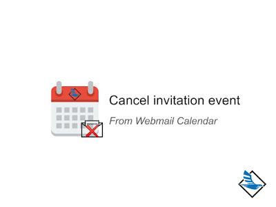 การยกเลิกคำเชิญเข้าร่วมใน Webmail