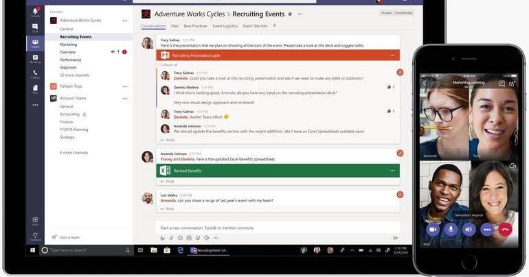 Microsoft lancia la versione gratuita dell'app Teams ...