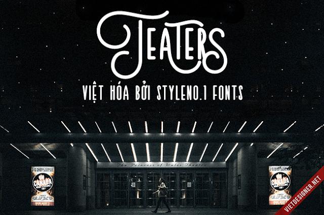 [Sans-serif] Teaters Typeface Việt hóa