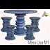 Forma / Molde Fibra de Vidro Fazer Mesa Redonda Lisa Mod 01