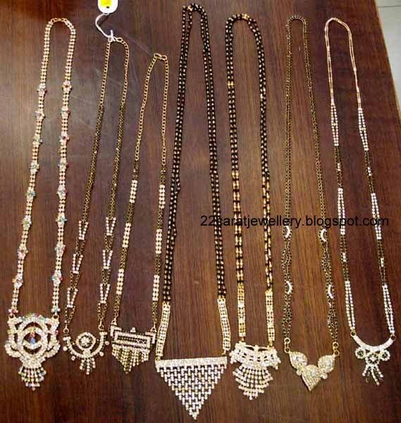 Pearl Jewellery Necklace >> 22 carat Nallapusalu/black beads Jewellery - Jewellery Designs