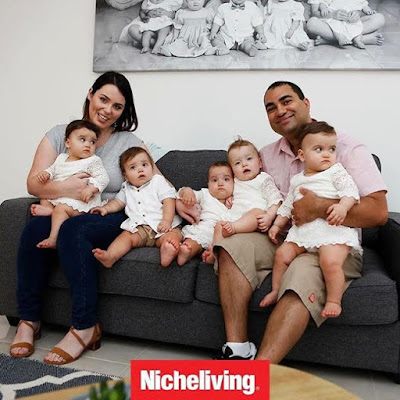 Check out beautiful photos of a mother & her adorable quintuplets