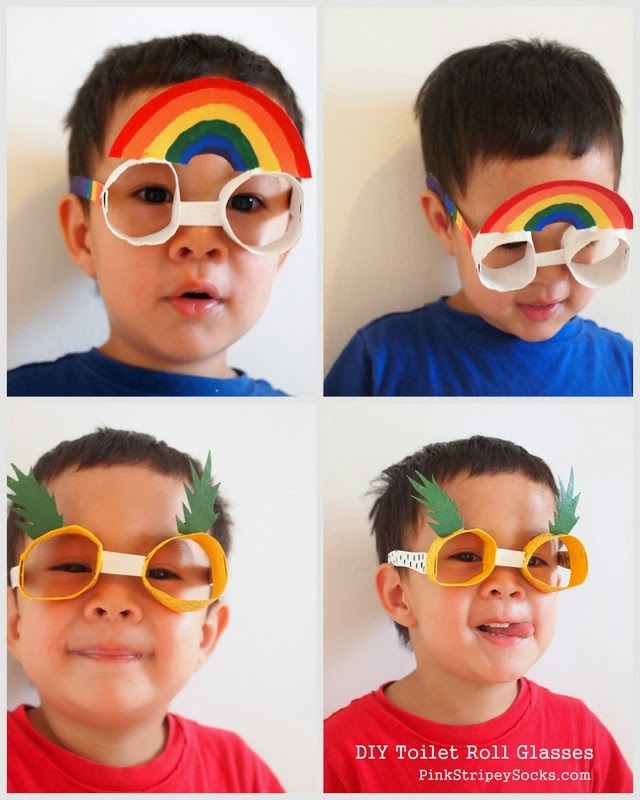 DiY toilet roll glasses