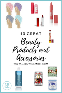 Beauty Products and Accessories. Great lipstick, lip balm, eye cream, retinol cream, vitamin c serum, shampoo, conditioner, turbie towel, and pendant.