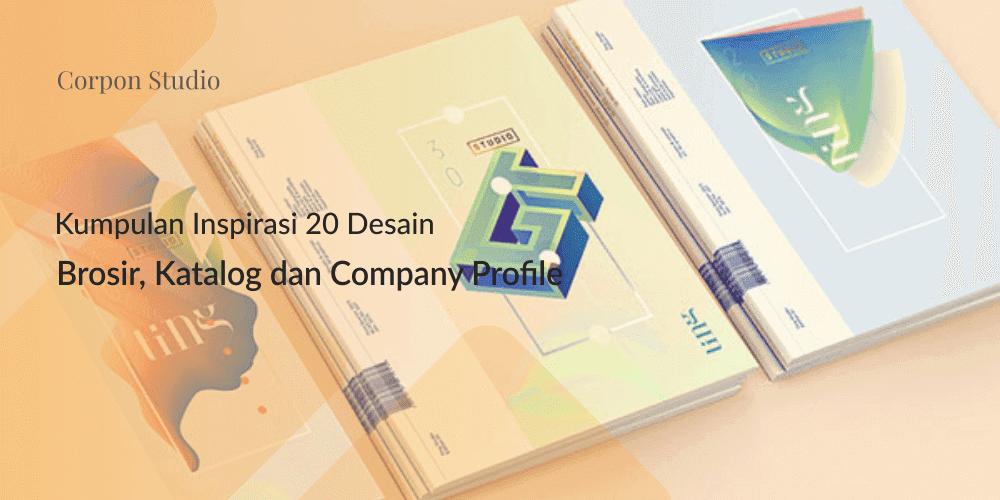 Inspirasi 20+ Desain Brosur dan Katalog Modern Untuk Desain Grafis