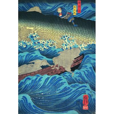 minamoto no tametomo sauvé par des tengu