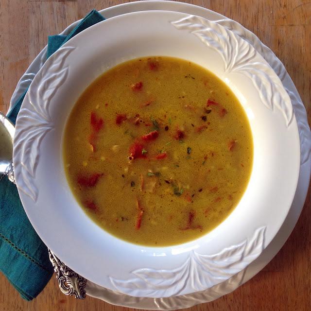 Bowl of Creamy Lobster Mushroom Soup