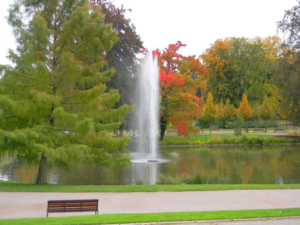 Parc de l'Orangerie, Strasbourg en automne