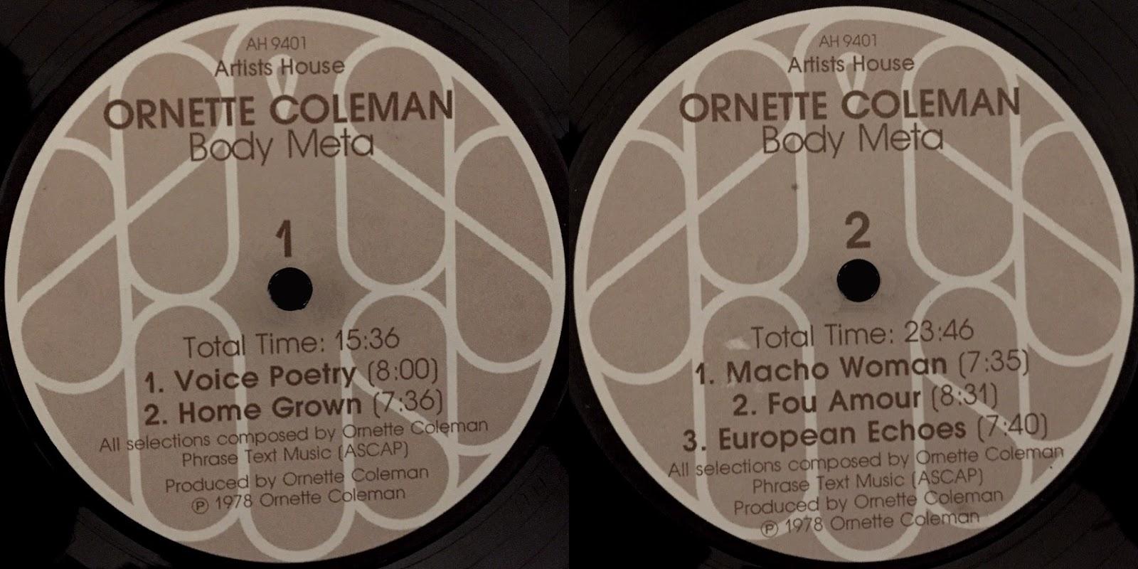 Ornette Coleman Body Meta