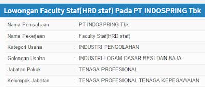Lowongan Kerja PT Indospring Tbk Surabaya Terbaru 2020