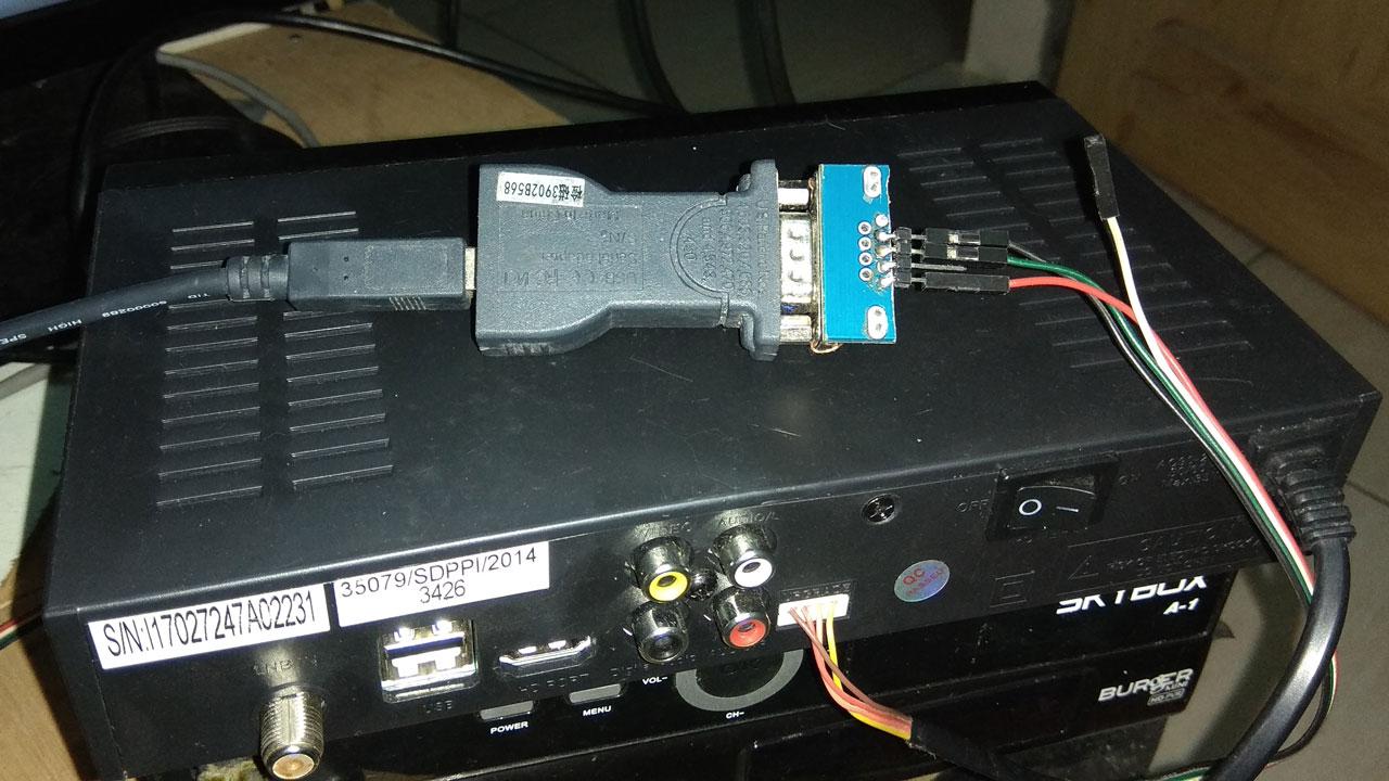 Cara Upgrade Receiver Tanaka T21 Komodo Memakai RS232