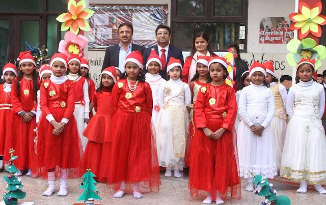 Christmas and Guru Gobind Singh's birthday celebrated at Dronacharya Institute of Education