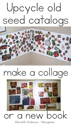 Upcycle your old seed catalogs to make a collage - great for fine motor skills! | Meredith Anderson - Momgineer