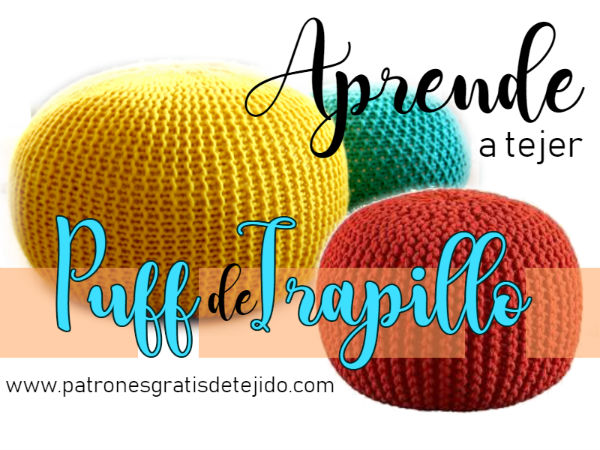 Cómo tejer puffs a crochet y a dos agujas / Tutoriales | Crochet y ...