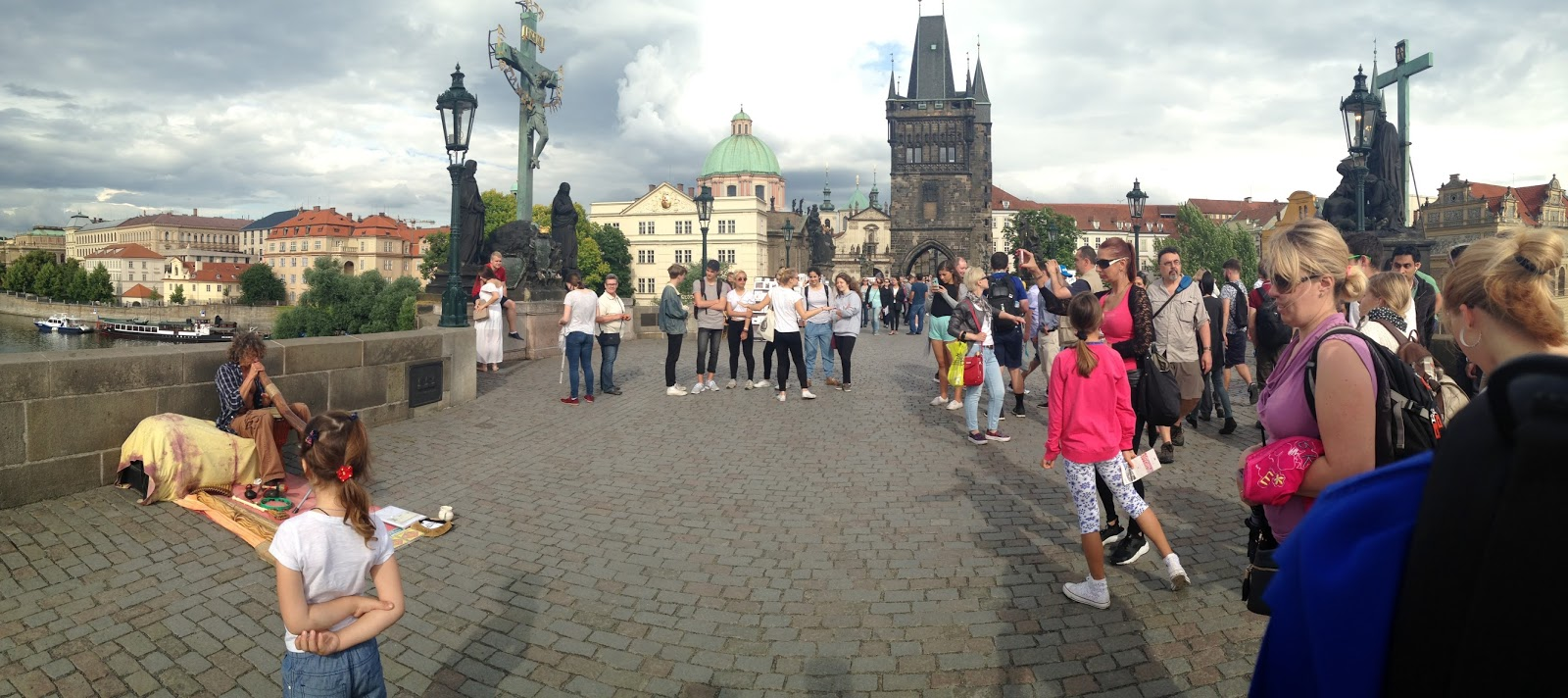 Charles Bridge, prague, czech republic, busker