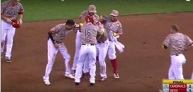 Eugenio Suarez #VIDEO Hit y deja en el terreno a San Luis #MLB